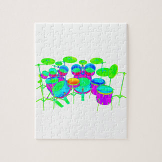 Colorful Drum Kit Jigsaw Puzzle