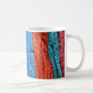 Colorful Dyed Yarn Coffee Mug