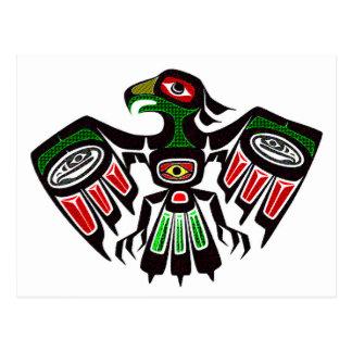 Colorful Eagle Symbol Postcard