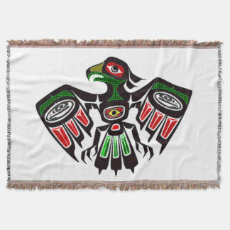 Colorful Eagle Symbol Throw Blanket