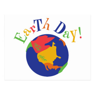Colorful Earth Day Gift Post Cards