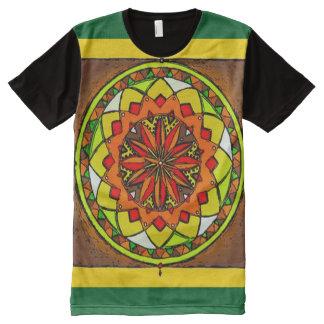 Colorful Earth Medicine Wheel Mandala Art All-Over Print T-Shirt
