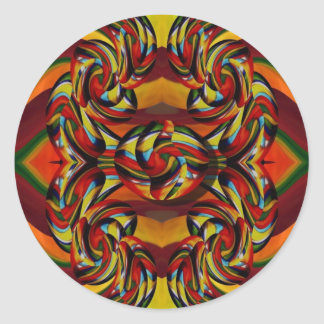 Colorful Earth Tones Stickers