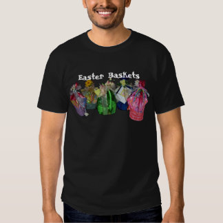 Colorful Easter Baskets Design T-shirts
