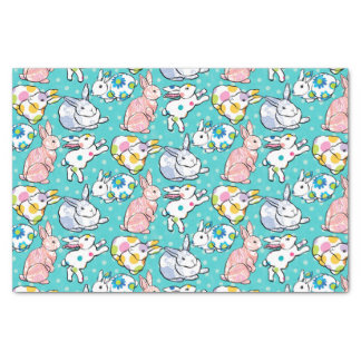 Colorful Easter Bunnies Tissue Paper