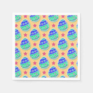 Colorful Easter Egg Pattern Cocktail Napkins Disposable Serviette