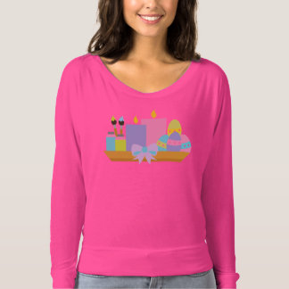 Colorful Easter Eggs & Candles T-Shirt