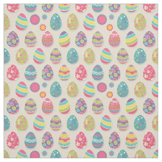 Colorful Easter eggs fabric