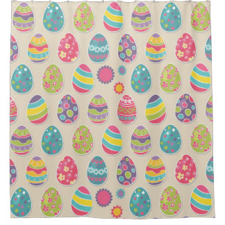 Colorful Easter eggs shower curtain