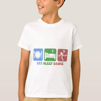 Colorful eat sleep dance shirts