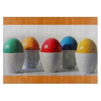 Colorful egg Decorative Glass Cutting Board