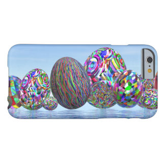 Colorful eggs for easter - 3D render Barely There iPhone 6 Case