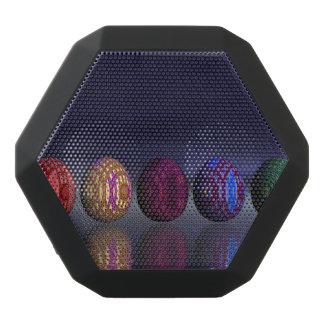 Colorful eggs for easter - 3D render Black Bluetooth Speaker