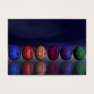 Colorful eggs for easter - 3D render Business Card