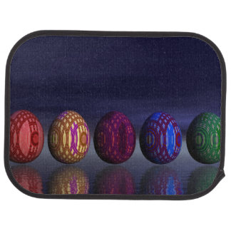 Colorful eggs for easter - 3D render Car Mat