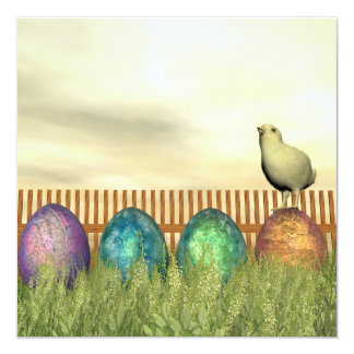 Colorful eggs for easter - 3D render Card