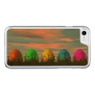 Colorful eggs for easter - 3D render Carved iPhone 7 Case