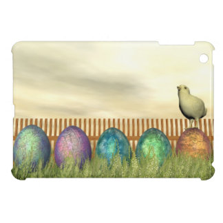 Colorful eggs for easter - 3D render Case For The iPad Mini