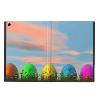Colorful eggs for easter - 3D render Cover For iPad Air