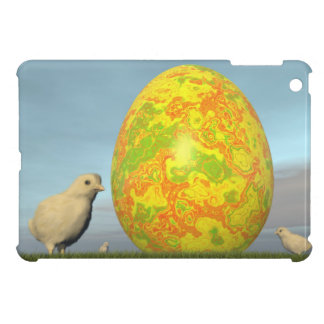 Colorful eggs for easter - 3D render Cover For The iPad Mini
