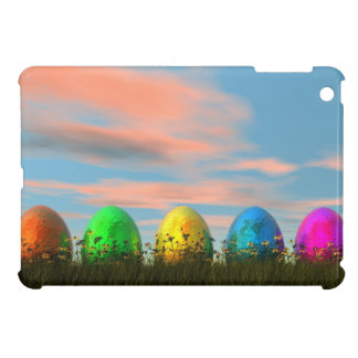 Colorful eggs for easter - 3D render iPad Mini Cover