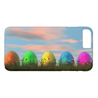 Colorful eggs for easter - 3D render iPhone 8 Plus/7 Plus Case