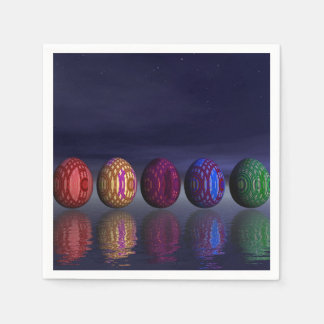 Colorful eggs for easter - 3D render Paper Napkin