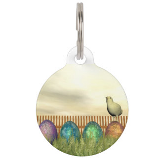 Colorful eggs for easter - 3D render Pet Tag