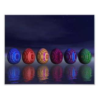 Colorful eggs for easter - 3D render Photo