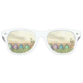 Colorful eggs for easter - 3D render Retro Sunglasses