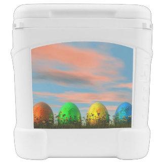 Colorful eggs for easter - 3D render Rolling Cooler