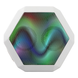 Colorful electric waves white boombot rex bluetooth speaker