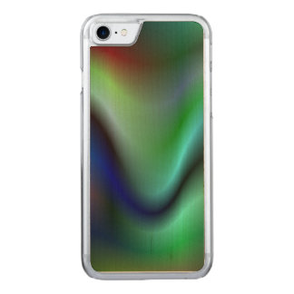 Colorful electric waves carved iPhone 7 case