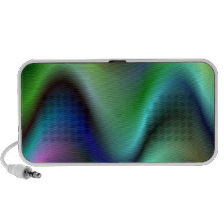 Colorful electric waves mp3 speaker
