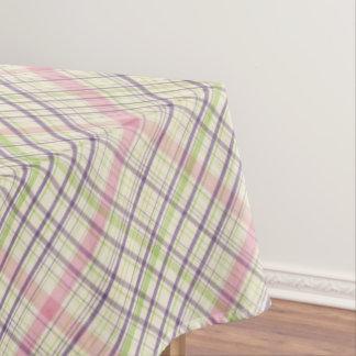Colorful Elegant Pastel Retro Tartan Plaid Pattern Tablecloth