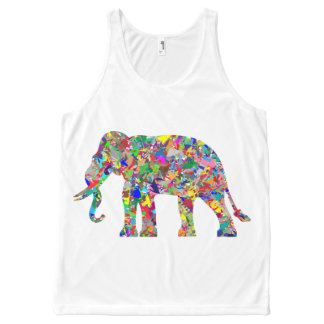 Colorful elephant All-Over print tank top