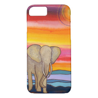 Colorful Elephant at Sunset iPhone 8/7 Case
