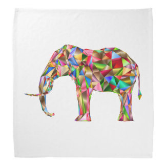 Colorful elephant bandana