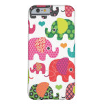 Colorful elephant kids pattern iPhone 6 case