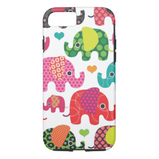 Colorful elephant kids pattern iPhone 7 case