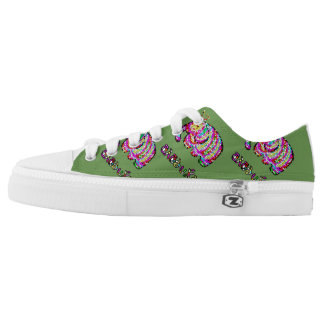Colorful Elephant Low Tops