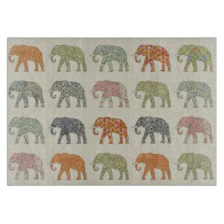 Colorful Elephant Pattern Cutting Board
