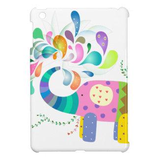 Colorful Elephant Splashing iPad Mini Cases