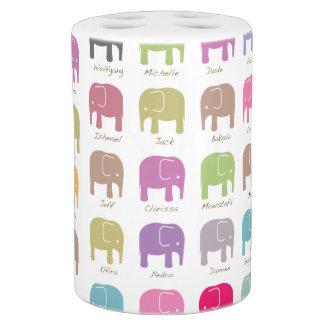 colorful elephants bathroom set