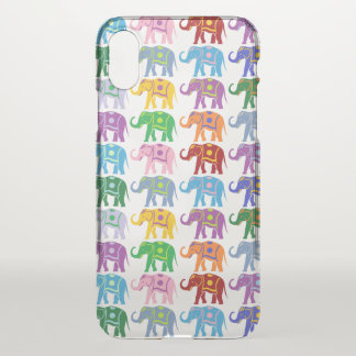 Colorful Elephants Pattern iPhone X Case