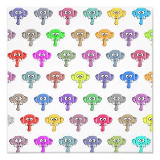 Colorful Elephants Photo