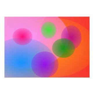 Colorful Ellipses Announcements