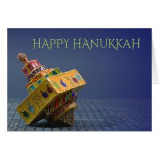 Colorful enameled dreidel Hanukkah card