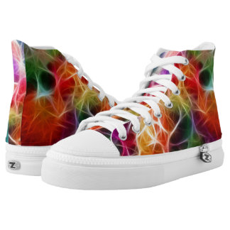 Colorful Energy Pattern High Top Shoes Printed Shoes