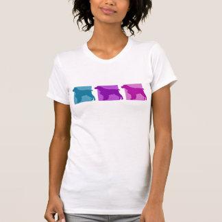 Colorful English Springer Spaniel Silhouettes T-Shirt